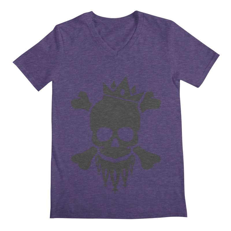 Joker Skull King Men's Regular V-Neck by Pbatu's Artist Shop