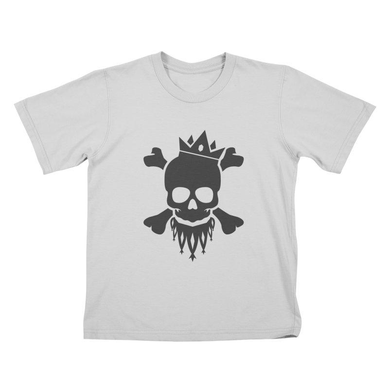 Joker Skull King Kids T-Shirt by Pbatu's Artist Shop