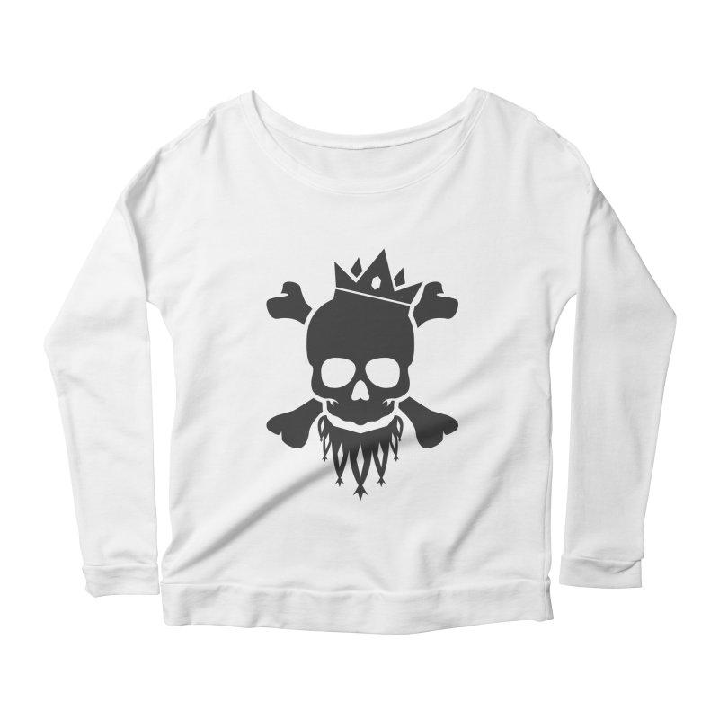 Joker Skull King Women's Scoop Neck Longsleeve T-Shirt by Pbatu's Artist Shop