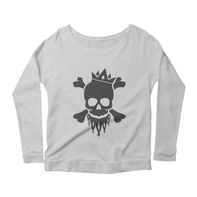 Joker Skull King Women's Scoop Neck Longsleeve T-Shirt by Pbatu's Artist Shop