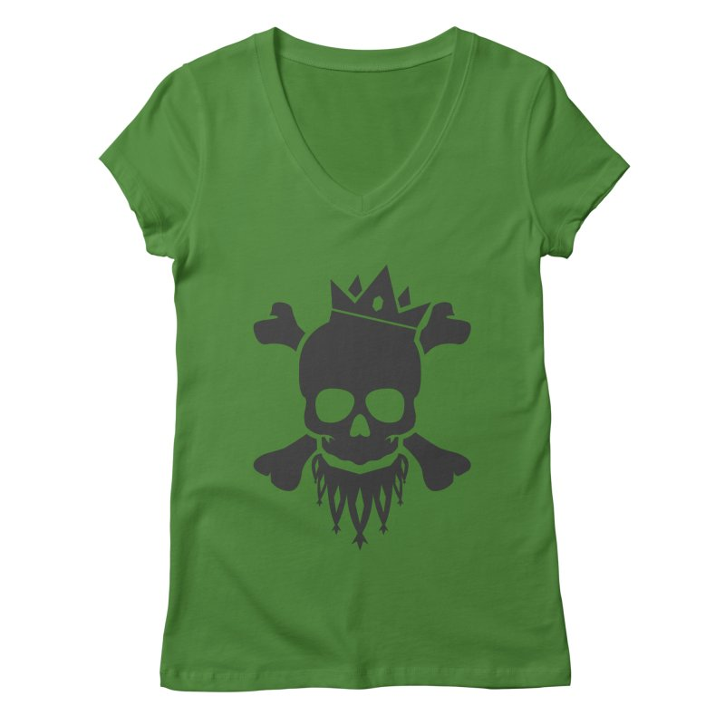 Joker Skull King Women's Regular V-Neck by Pbatu's Artist Shop