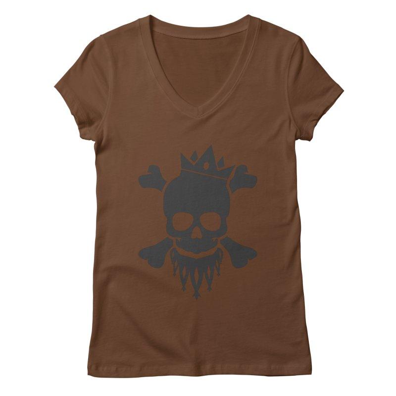 Joker Skull King Women's V-Neck by Pbatu's Artist Shop