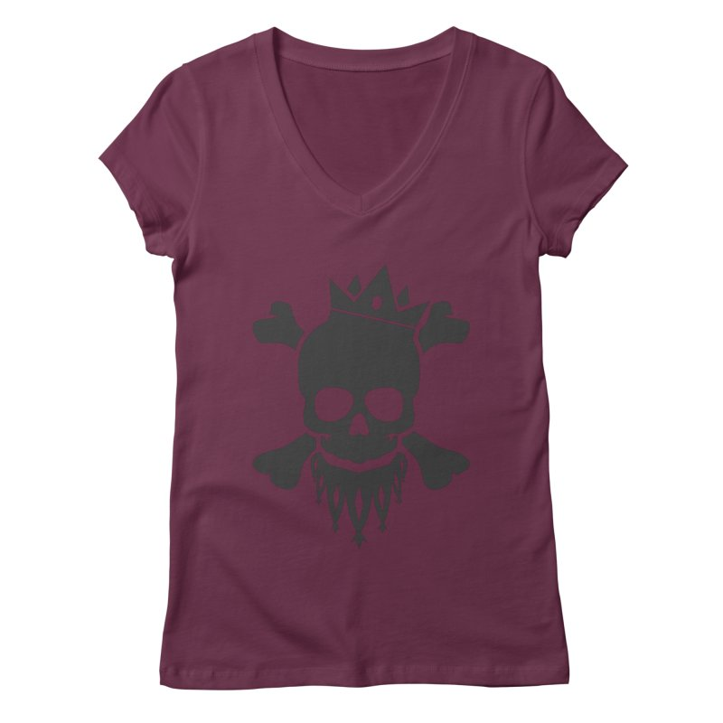 Joker Skull King Women's V-Neck by Pbatu's Artist Shop