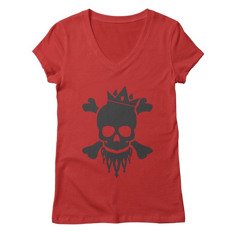 Joker Skull King Women's Regular V-Neck by Pbatu's Artist Shop