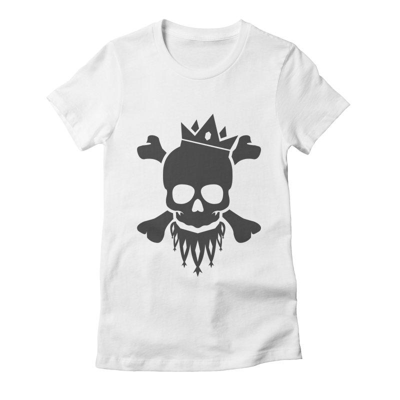 Joker Skull King Women's Fitted T-Shirt by Pbatu's Artist Shop