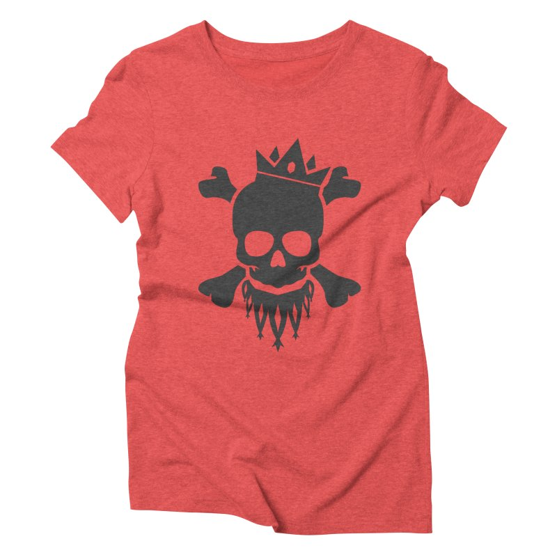 Joker Skull King Women's Triblend T-Shirt by Pbatu's Artist Shop