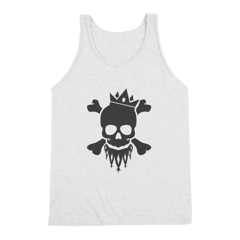 Joker Skull King Men's Triblend Tank by Pbatu's Artist Shop