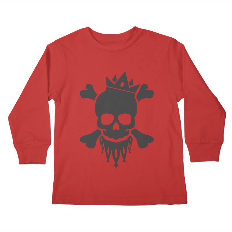 Joker Skull King Kids Longsleeve T-Shirt by Pbatu's Artist Shop