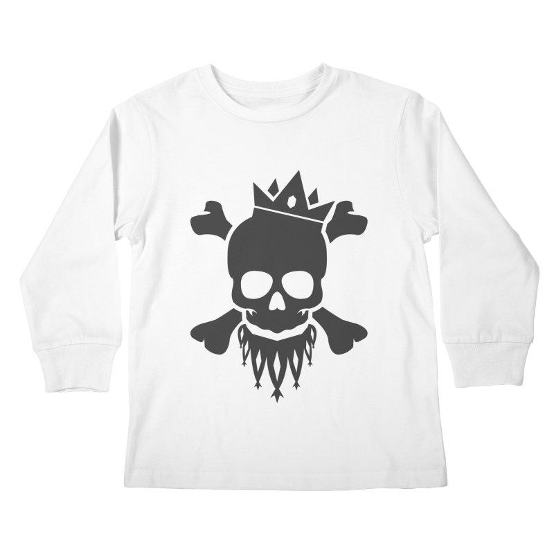 Joker Skull King Kids Longsleeve T-Shirt by Pbatu's Artist Shop