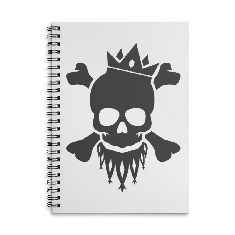 Joker Skull King Accessories Lined Spiral Notebook by Pbatu's Artist Shop