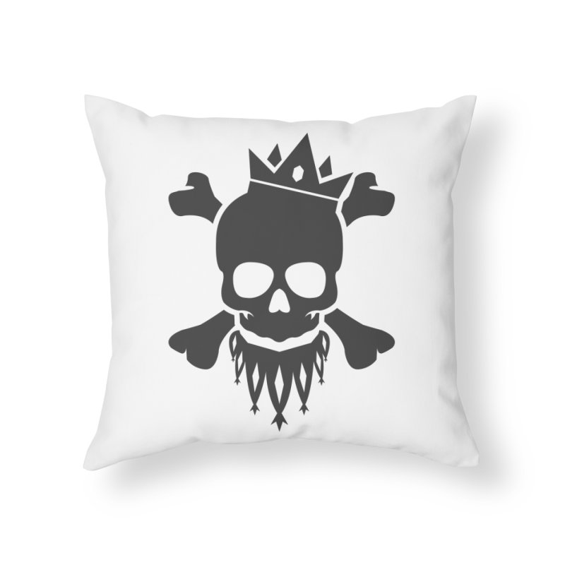 Joker Skull King Home Throw Pillow by Pbatu's Artist Shop