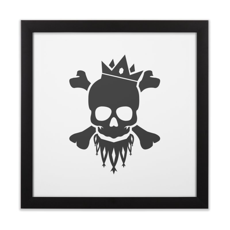 Joker Skull King Home Framed Fine Art Print by Pbatu's Artist Shop