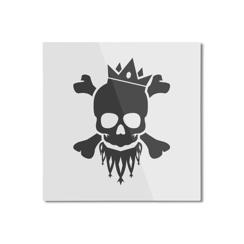 Joker Skull King Home Mounted Aluminum Print by Pbatu's Artist Shop