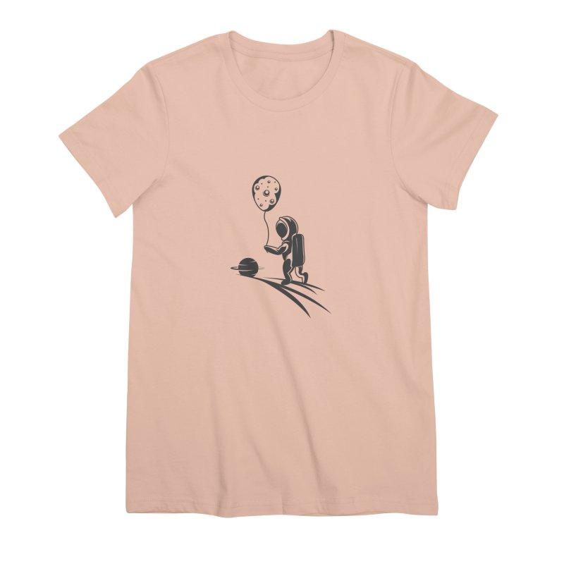 Moonman Women's Premium T-Shirt by Pbatu's Artist Shop