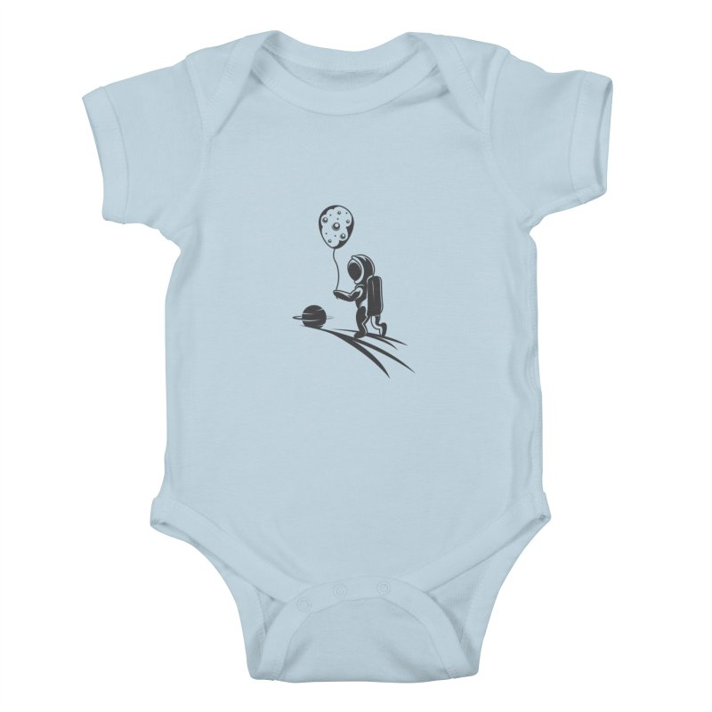 Moonman Kids Baby Bodysuit by Pbatu's Artist Shop