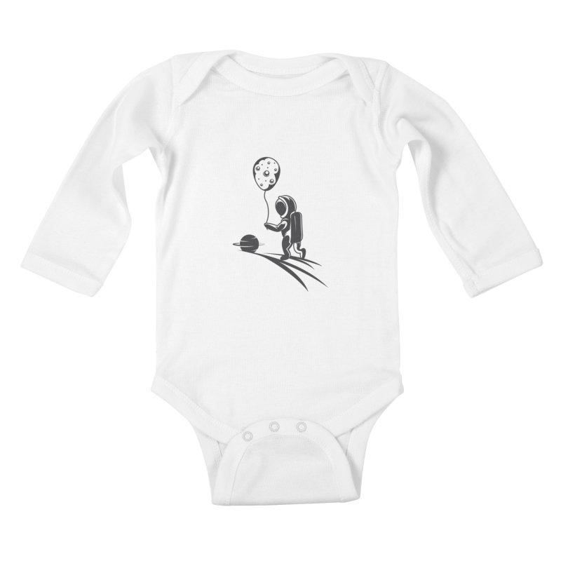 Moonman Kids Baby Longsleeve Bodysuit by Pbatu's Artist Shop