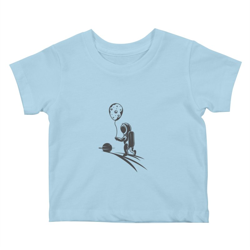 Moonman Kids Baby T-Shirt by Pbatu's Artist Shop