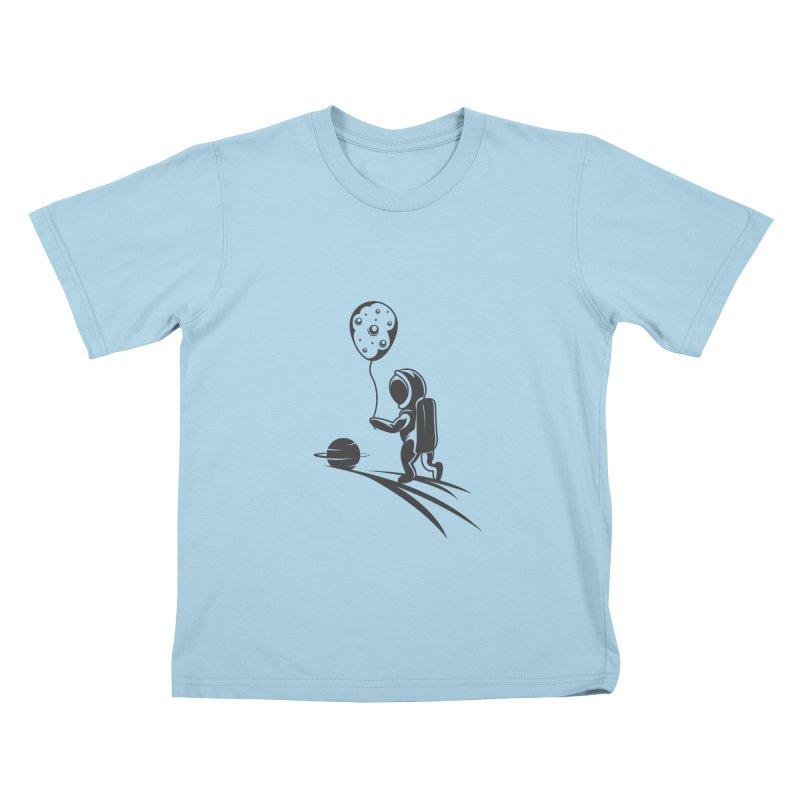 Moonman Kids T-Shirt by Pbatu's Artist Shop