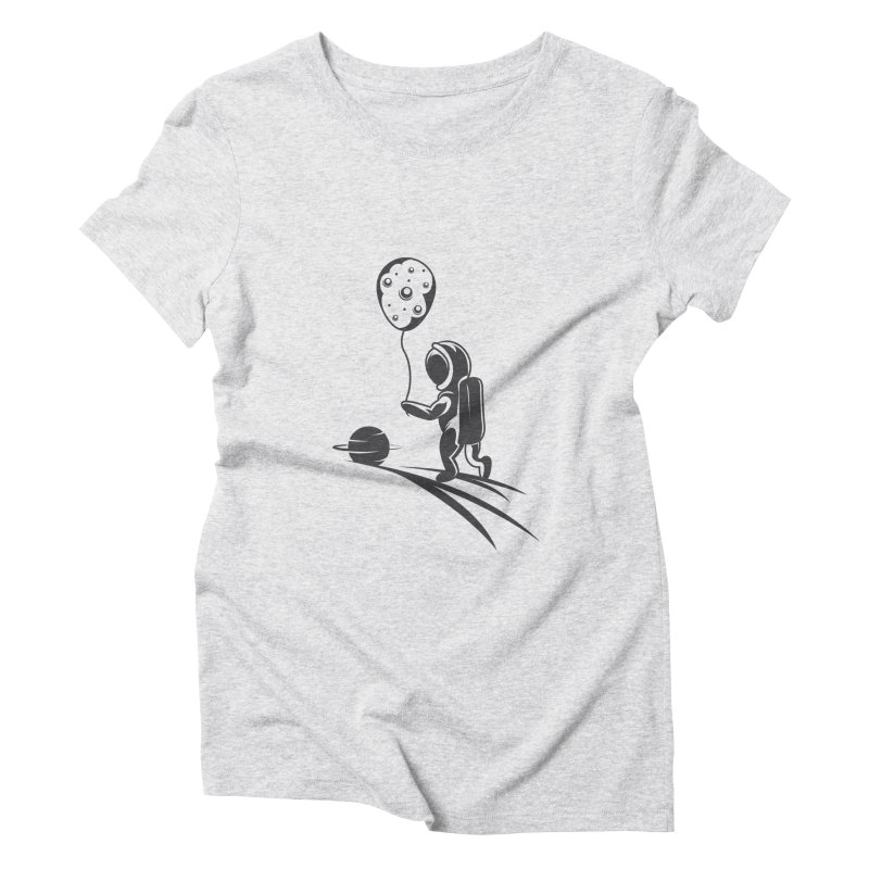 Moonman Women's Triblend T-Shirt by Pbatu's Artist Shop