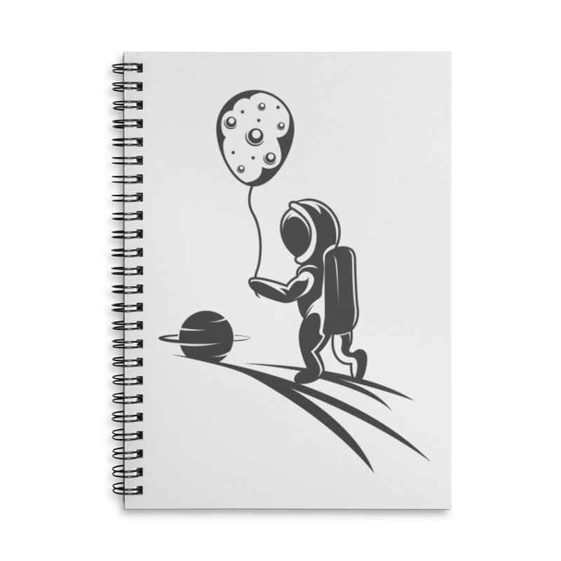 Moonman Accessories Lined Spiral Notebook by Pbatu's Artist Shop