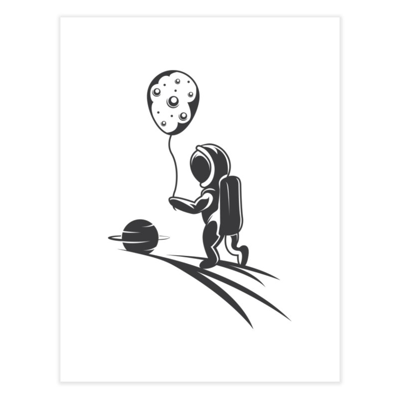 Moonman Home Fine Art Print by Pbatu's Artist Shop