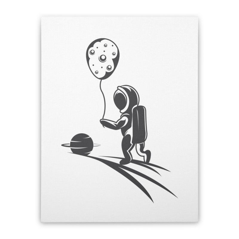 Moonman Home Stretched Canvas by Pbatu's Artist Shop