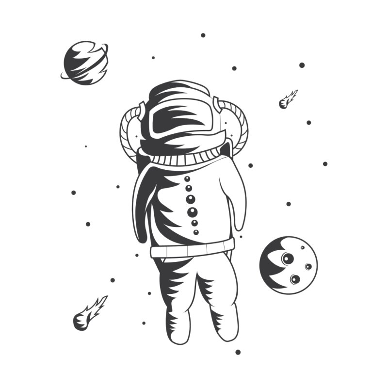 Cosmonaut in Space Accessories Sticker by Pbatu's Artist Shop
