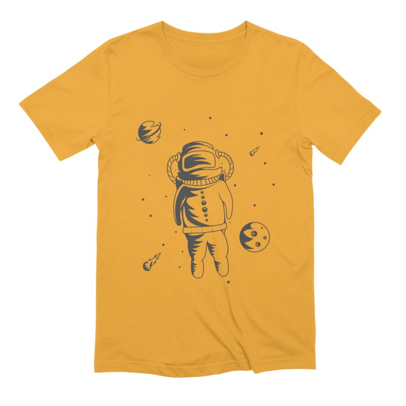 Cosmonaut in Space Men's Extra Soft T-Shirt by Pbatu's Artist Shop