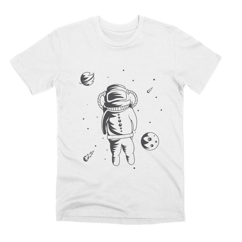 Cosmonaut in Space Men's T-Shirt by Pbatu's Artist Shop