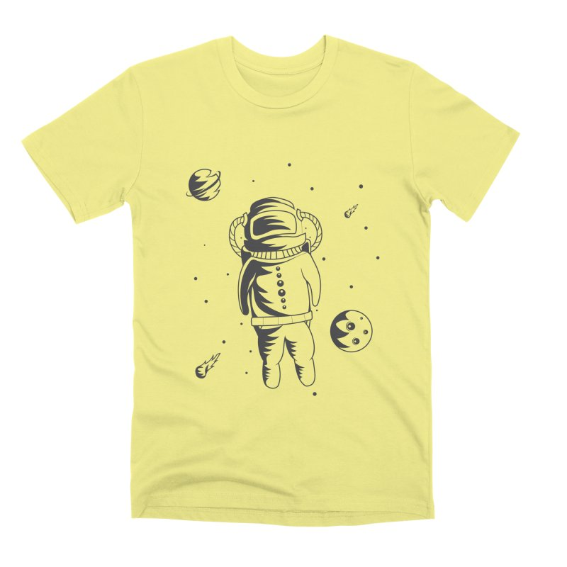 Cosmonaut in Space Men's Premium T-Shirt by Pbatu's Artist Shop