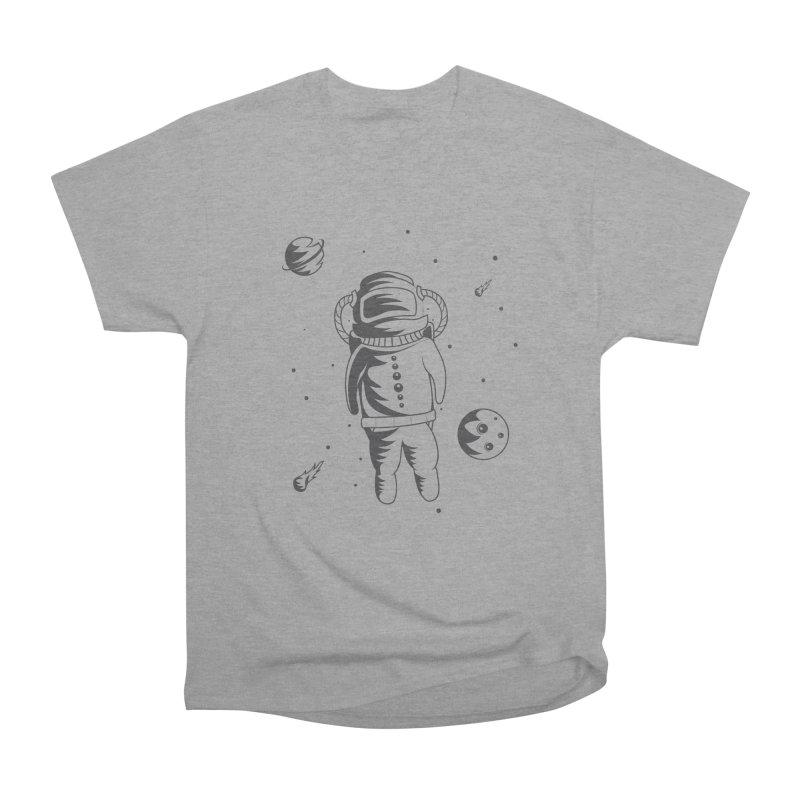 Cosmonaut in Space Women's Heavyweight Unisex T-Shirt by Pbatu's Artist Shop