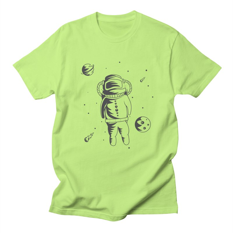 Cosmonaut in Space Women's Regular Unisex T-Shirt by Pbatu's Artist Shop