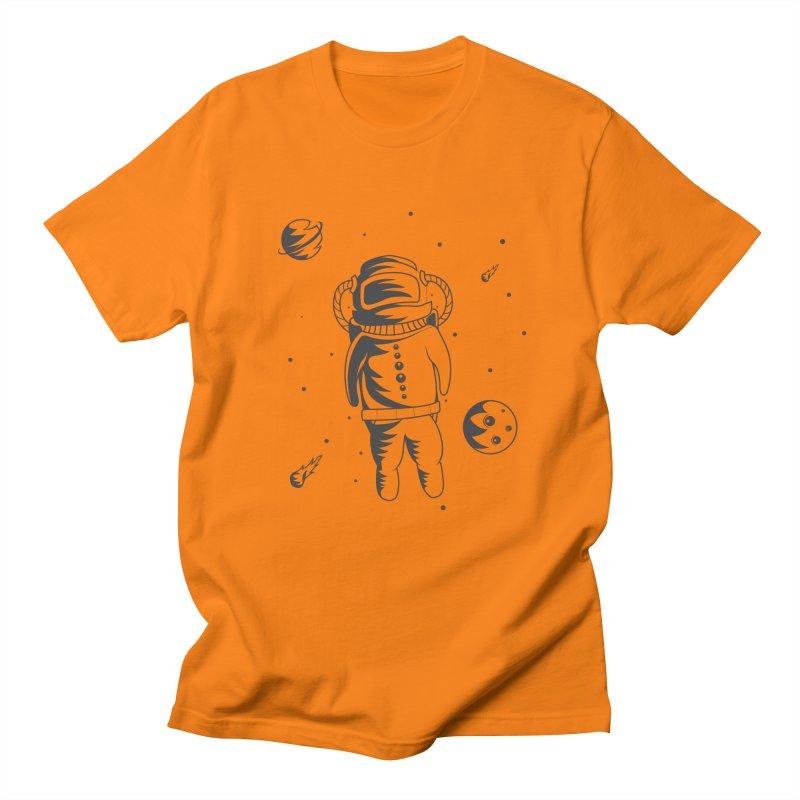 Cosmonaut in Space Women's Regular Unisex T-Shirt by Pbatu's Artist Shop