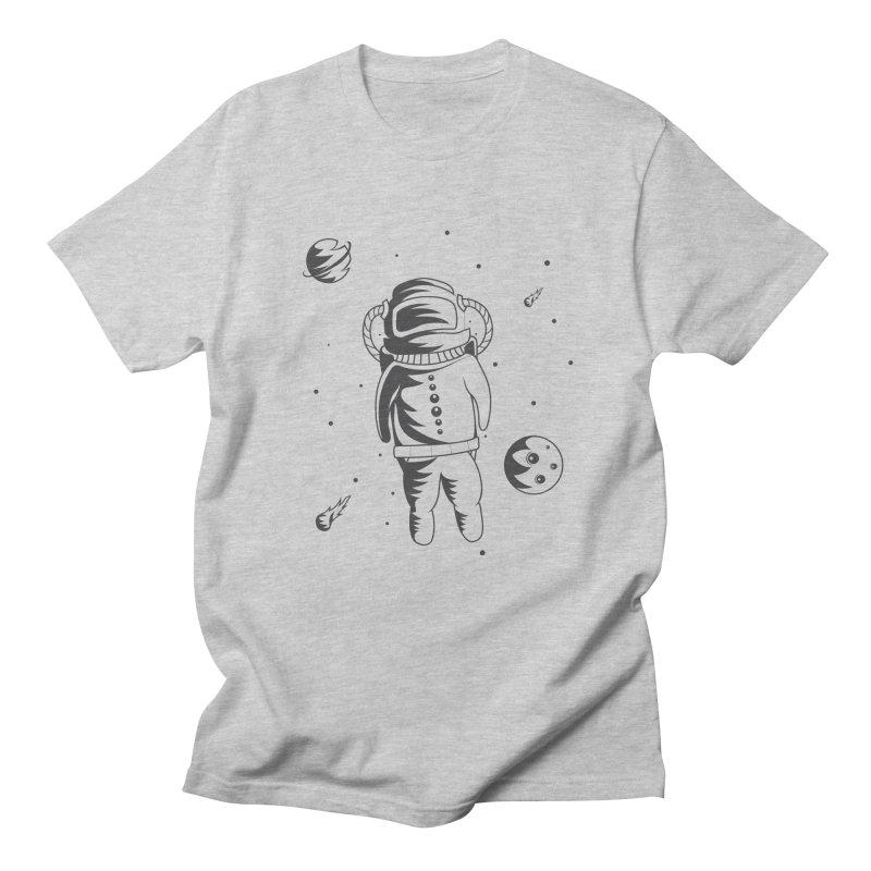 Cosmonaut in Space Men's Regular T-Shirt by Pbatu's Artist Shop