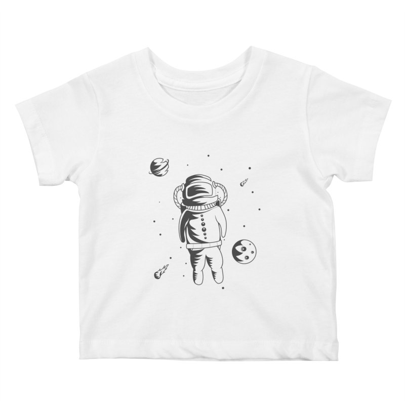 Cosmonaut in Space Kids Baby T-Shirt by Pbatu's Artist Shop