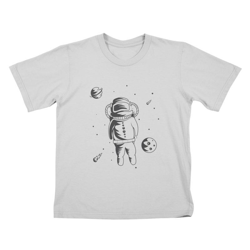 Cosmonaut in Space Kids T-Shirt by Pbatu's Artist Shop