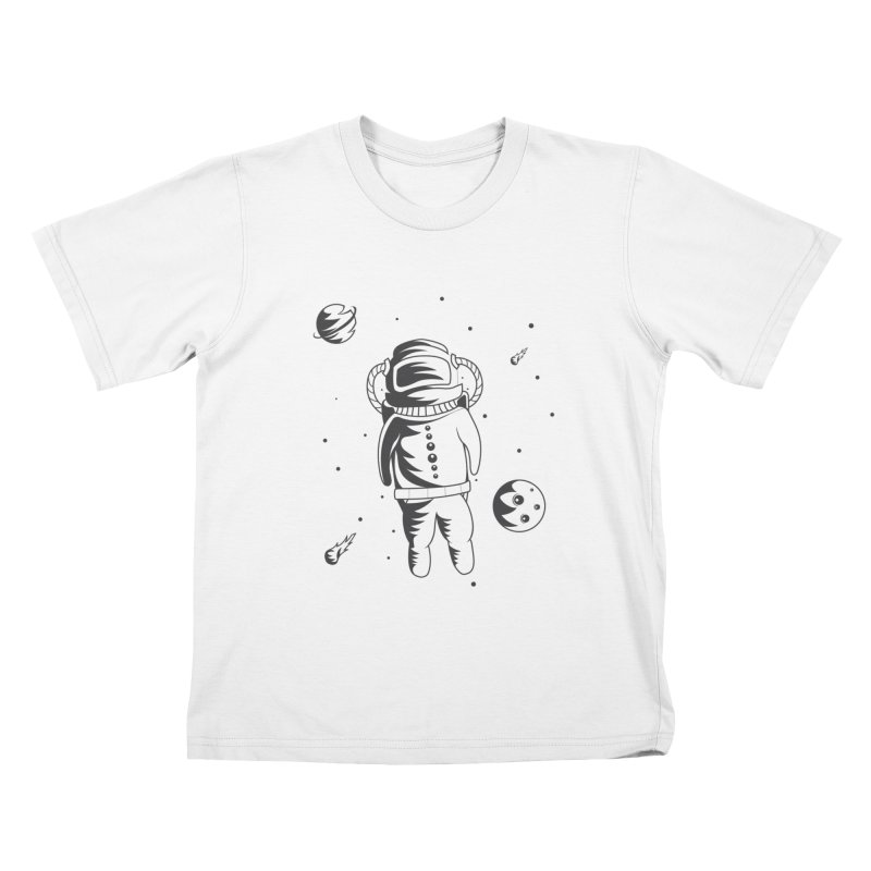 Cosmonaut in Space Kids T-Shirt by Pbatu's Artist Shop