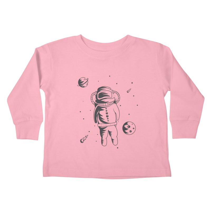 Cosmonaut in Space Kids Toddler Longsleeve T-Shirt by Pbatu's Artist Shop