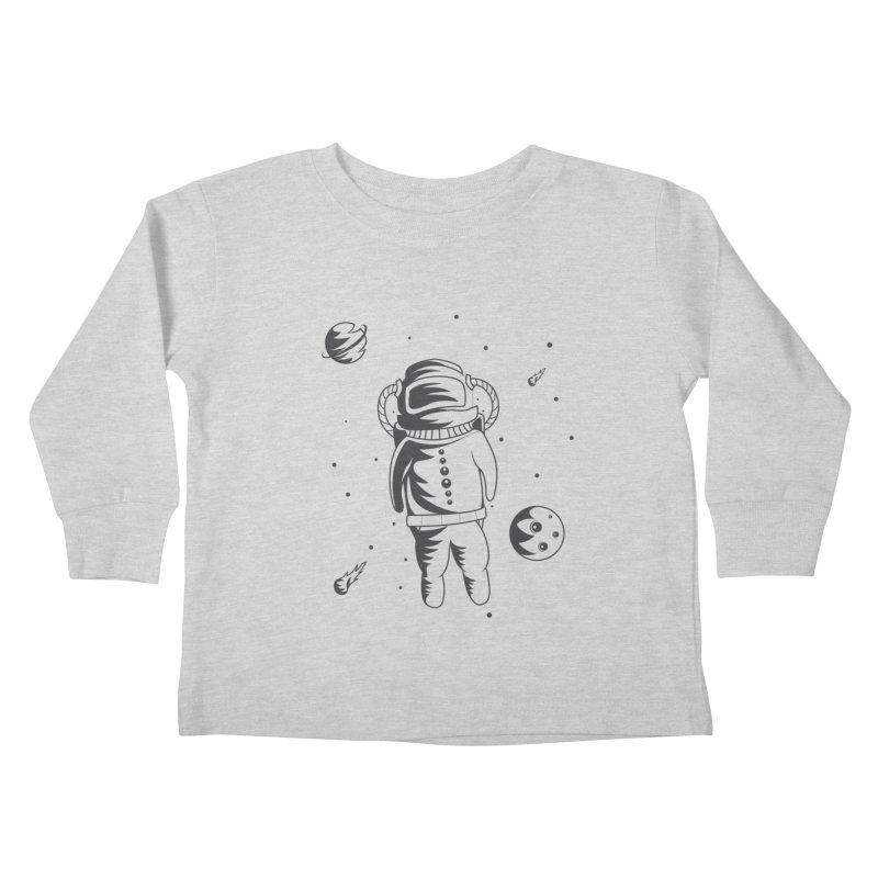Cosmonaut in Space Kids Toddler Longsleeve T-Shirt by Pbatu's Artist Shop
