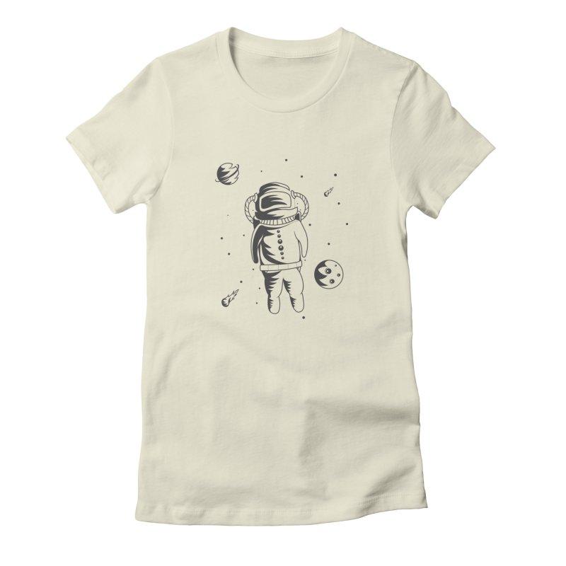 Cosmonaut in Space Women's T-Shirt by Pbatu's Artist Shop