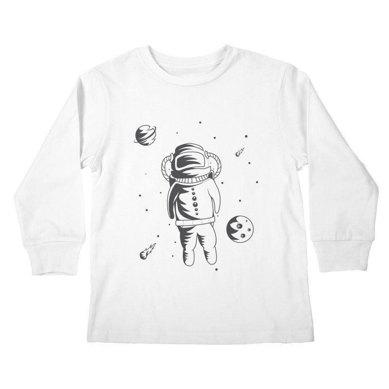 Cosmonaut in Space Kids Longsleeve T-Shirt by Pbatu's Artist Shop