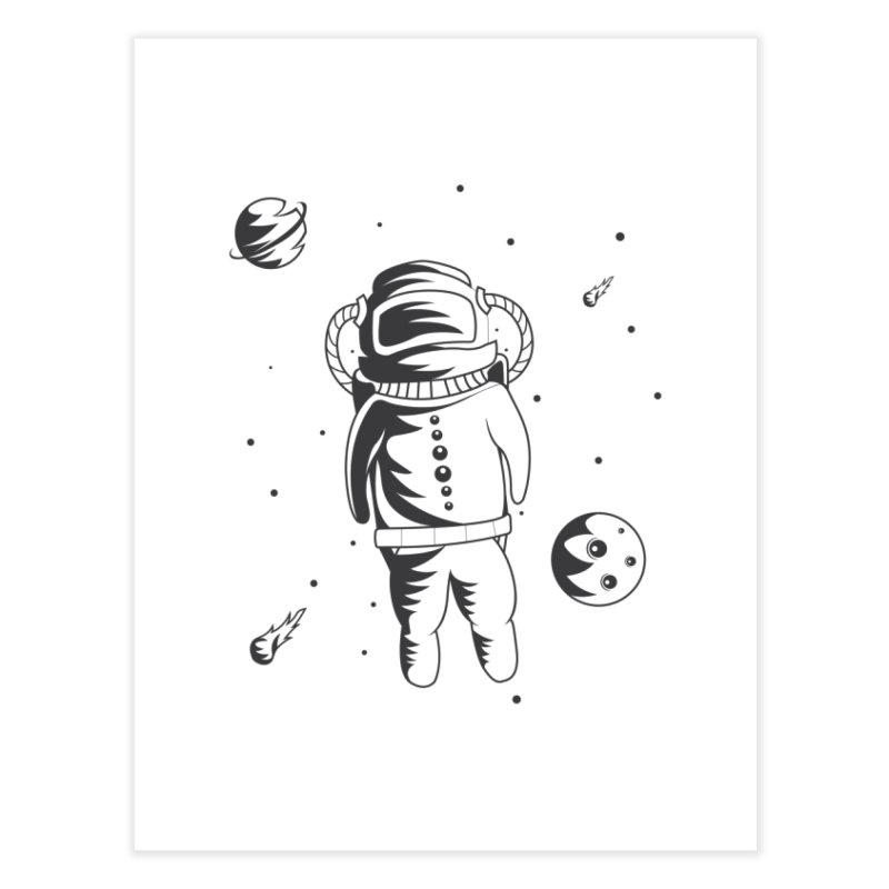 Cosmonaut in Space Home Fine Art Print by Pbatu's Artist Shop