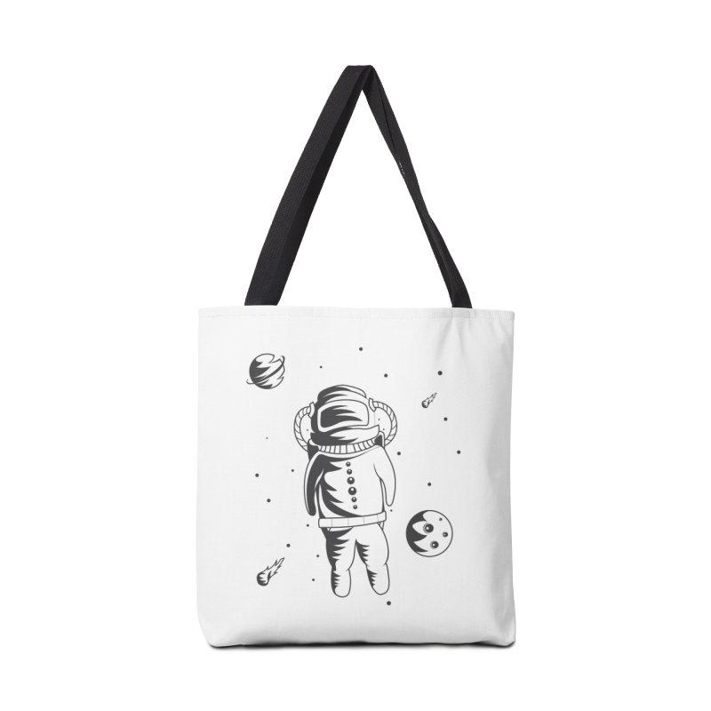 Cosmonaut in Space Accessories Tote Bag Bag by Pbatu's Artist Shop