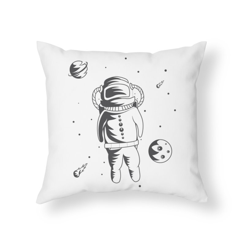 Cosmonaut in Space Home Throw Pillow by Pbatu's Artist Shop