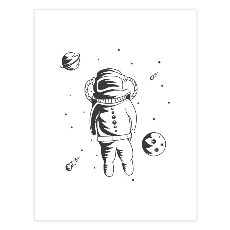 Cosmonaut in Space Home Fine Art Print by Pbatu's Artist Shop