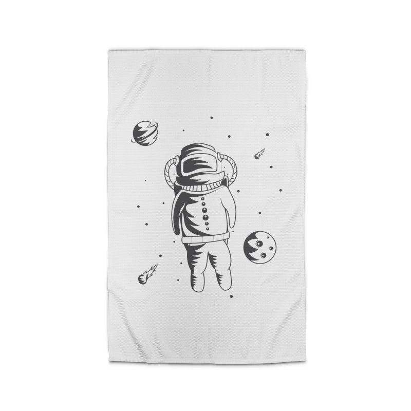 Cosmonaut in Space Home Rug by Pbatu's Artist Shop