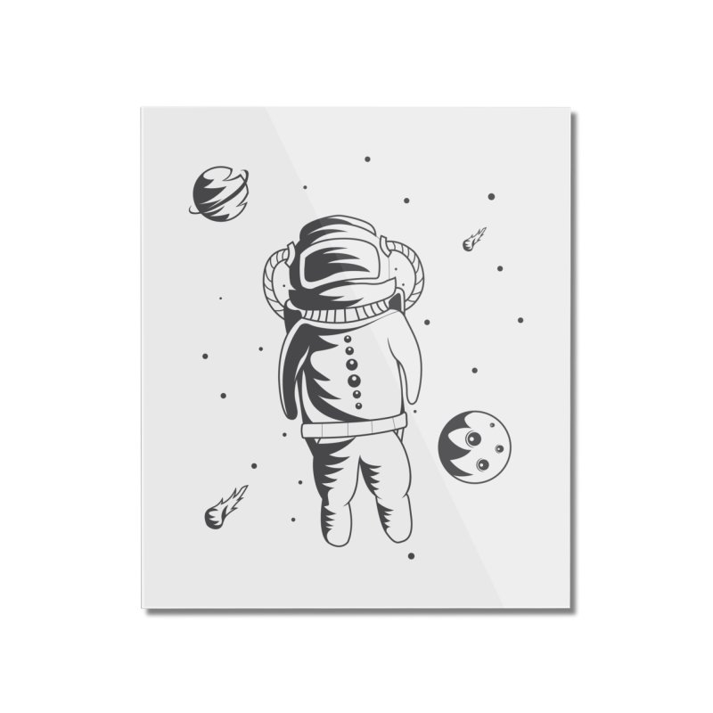 Cosmonaut in Space Home Mounted Acrylic Print by Pbatu's Artist Shop