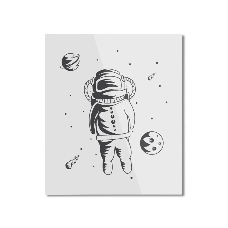 Cosmonaut in Space Home Mounted Aluminum Print by Pbatu's Artist Shop