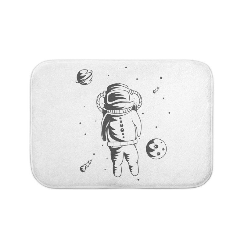 Cosmonaut in Space Home Bath Mat by Pbatu's Artist Shop