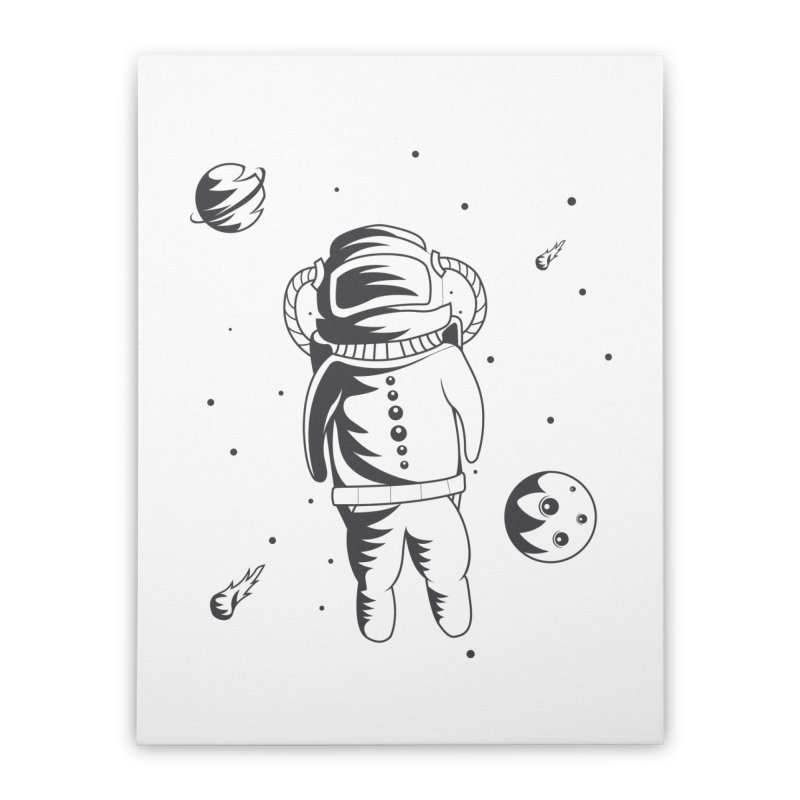 Cosmonaut in Space Home Stretched Canvas by Pbatu's Artist Shop